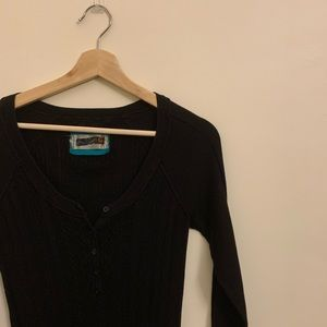 💟G by Guess Black 3/4 Sleeve Knit Top